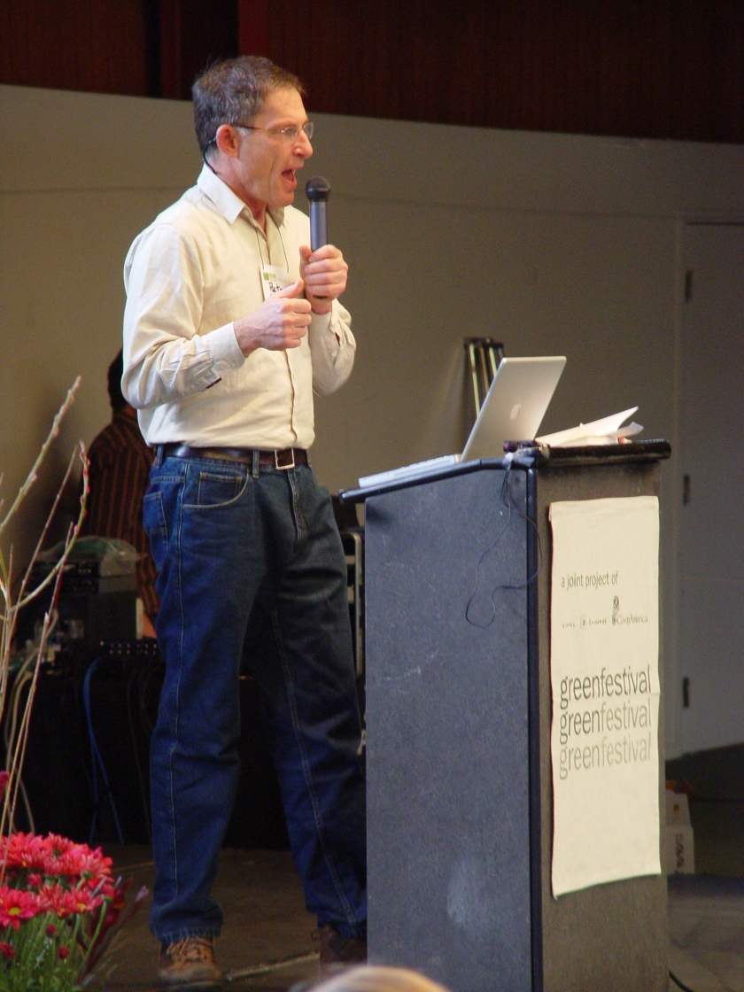 Peter Barnes at the Green Festival 2006