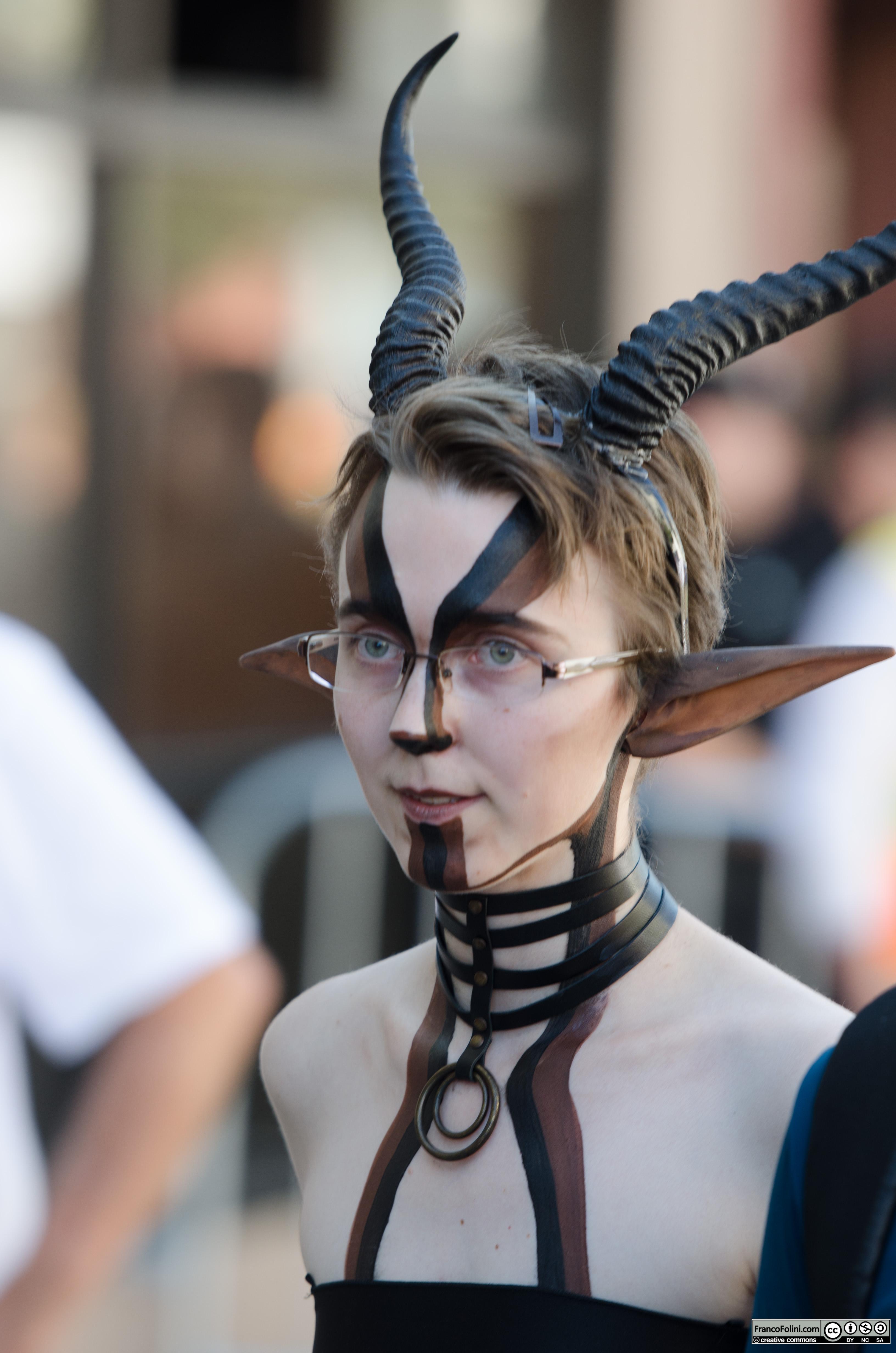 San Francisco Folsom Street Fair: mythical girl