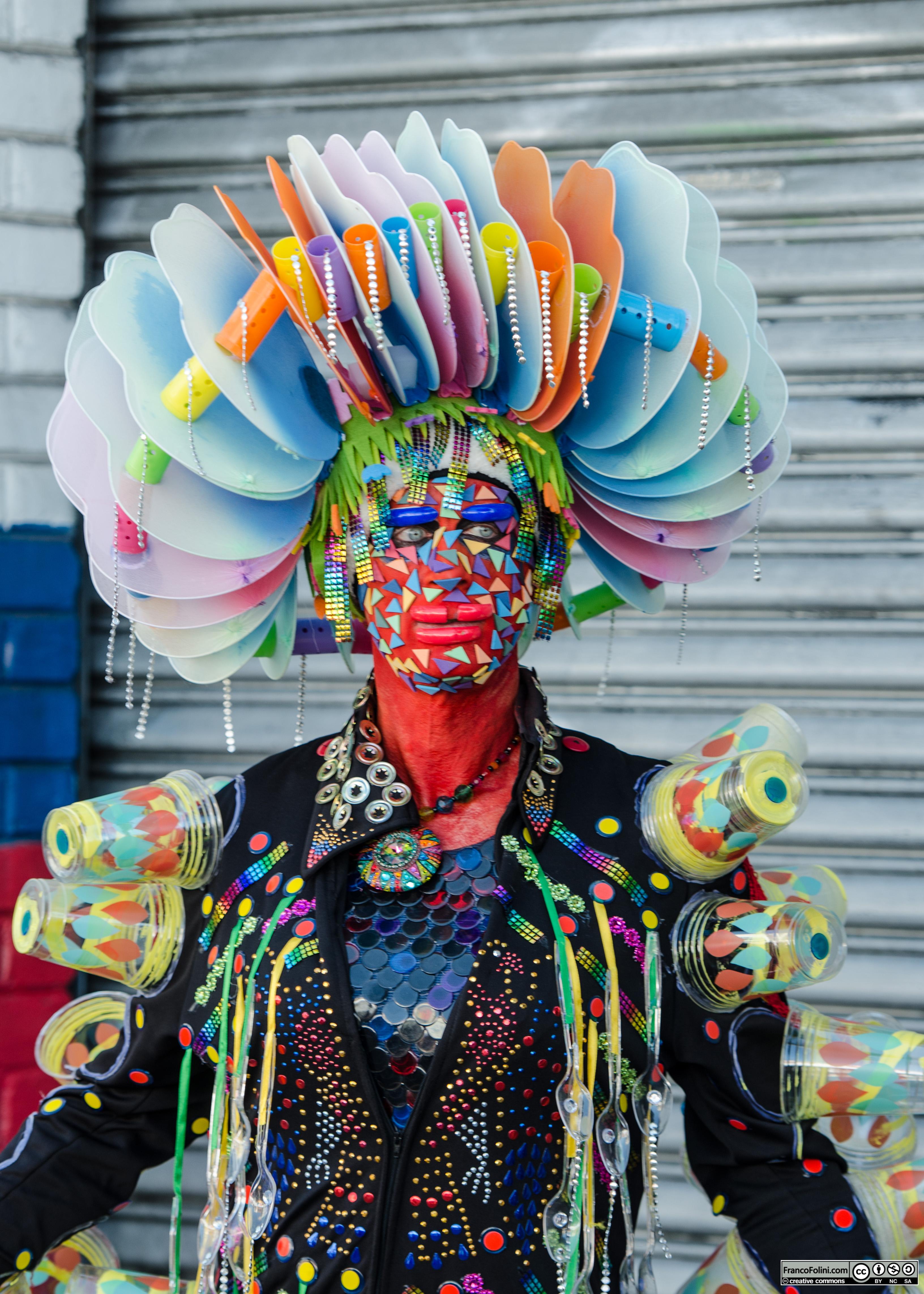 San Francisco Folsom Street Fair: colorful man