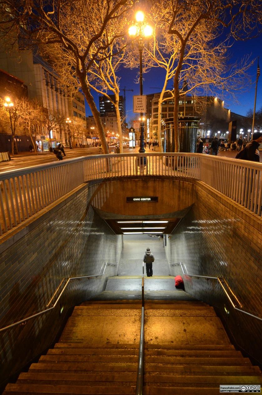 Down in the underground Market Street San Franciasco, CA