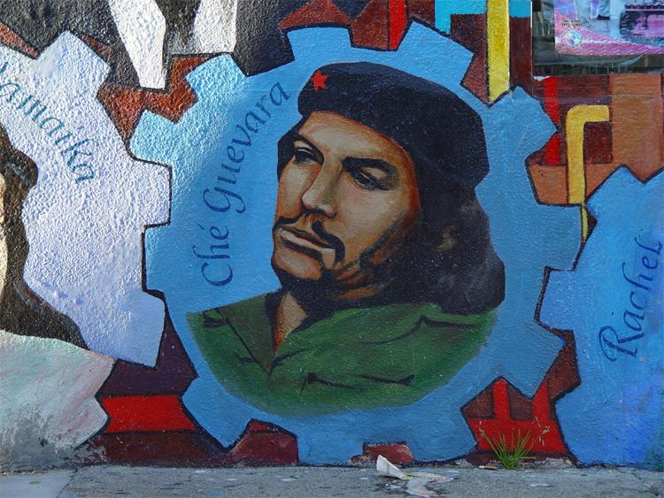 Murale dedicato al rivoluzionario cubano e iconica figura della cultura centro e sud-americana Ernesto Che Guevara. In citta' sono mumerosissimi i murali dedicati al Che. Questo in particolare e' stato realizzato da Susan Greene.