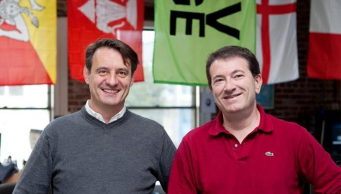 Franco Folini e Crsitiano Sacchi negli uffici di Novedge