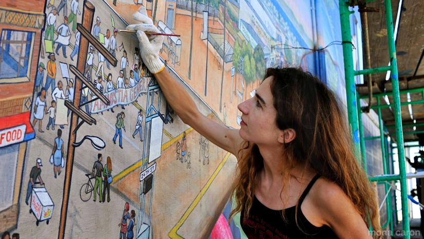 Mona Caron, muralista