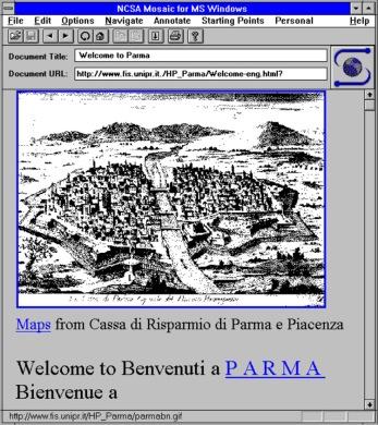 Un esempio di turismo virtuale via Internet: visita a Parma