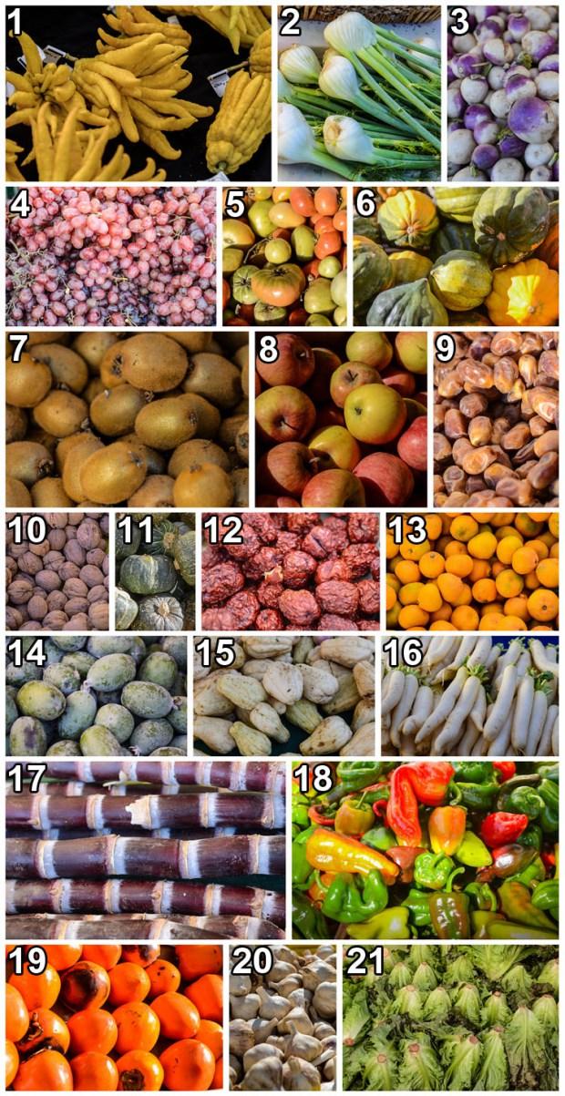 Indovina il nome e il paese d'orgine di questi ortaggi e verdure.