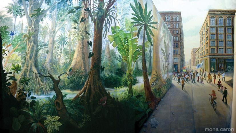 Murale Stream of Life, di Mona Caron