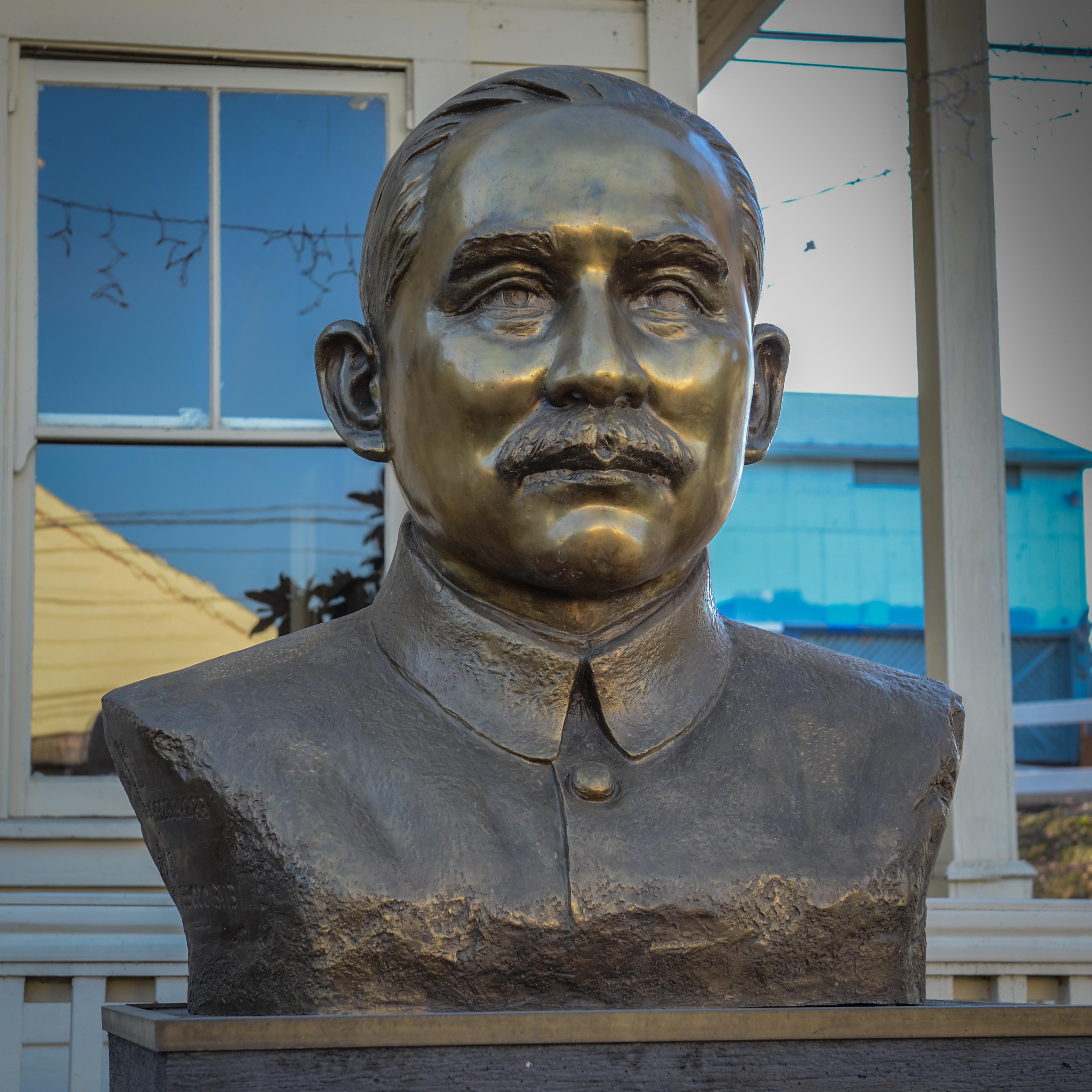 Dr. Sun Yat-sen (1866-1925). Bronze statue in Locke, CA
