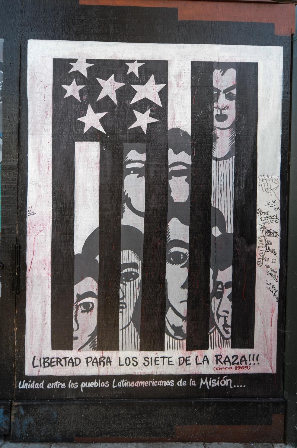 Mural: Los Siete de la Raza