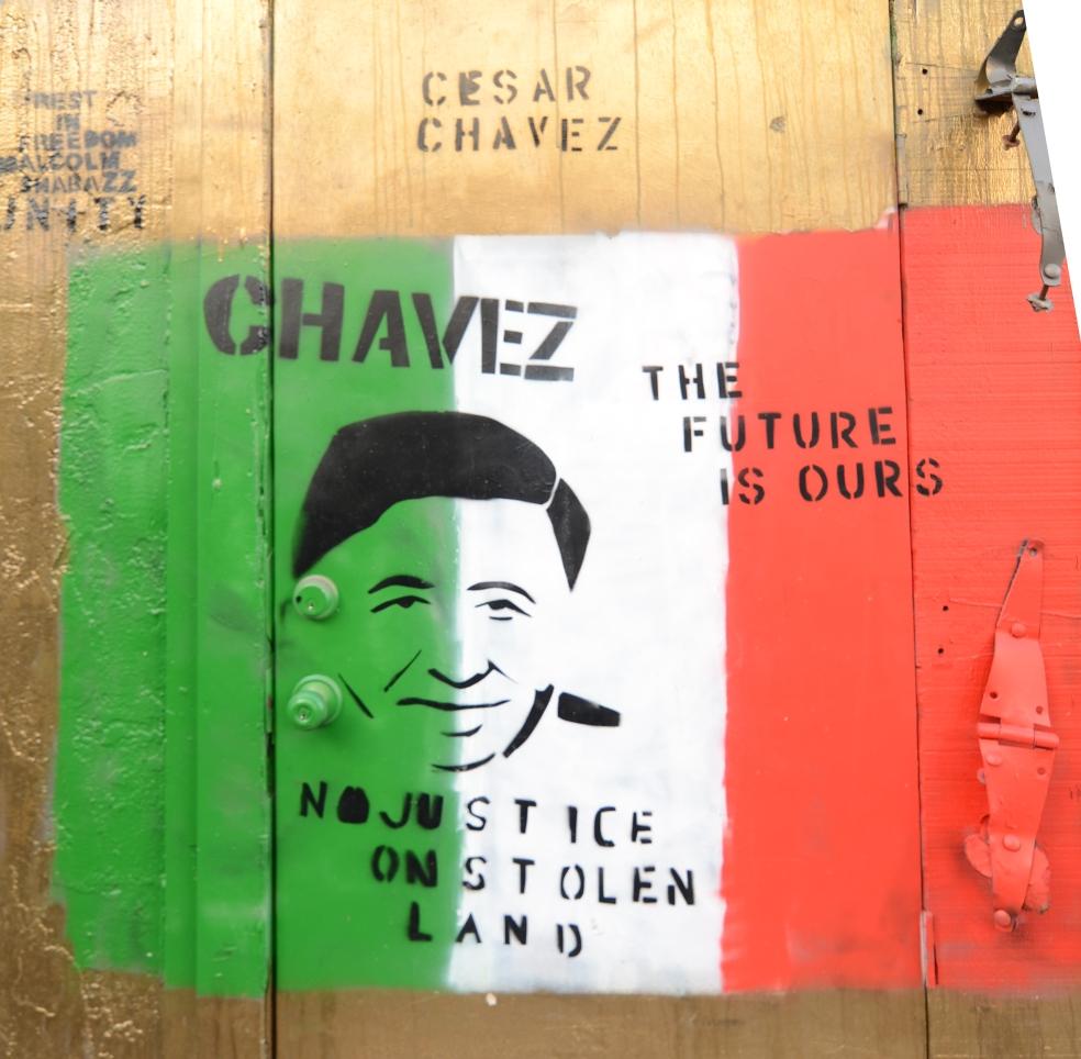 Murale dedicato allo storico attivista e sindacalista messicano Cesar Chavez