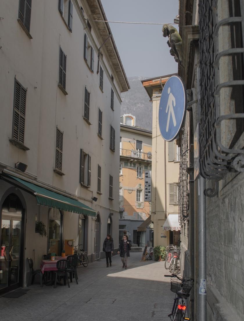 Centro città e area pedonale a Sondrio