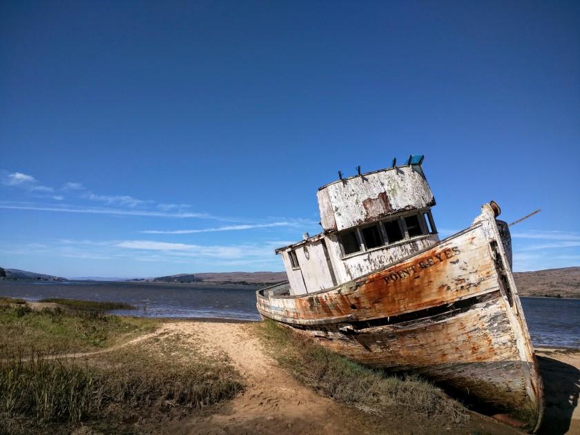 Un classico di Point Reyes: il relitto a Inverness