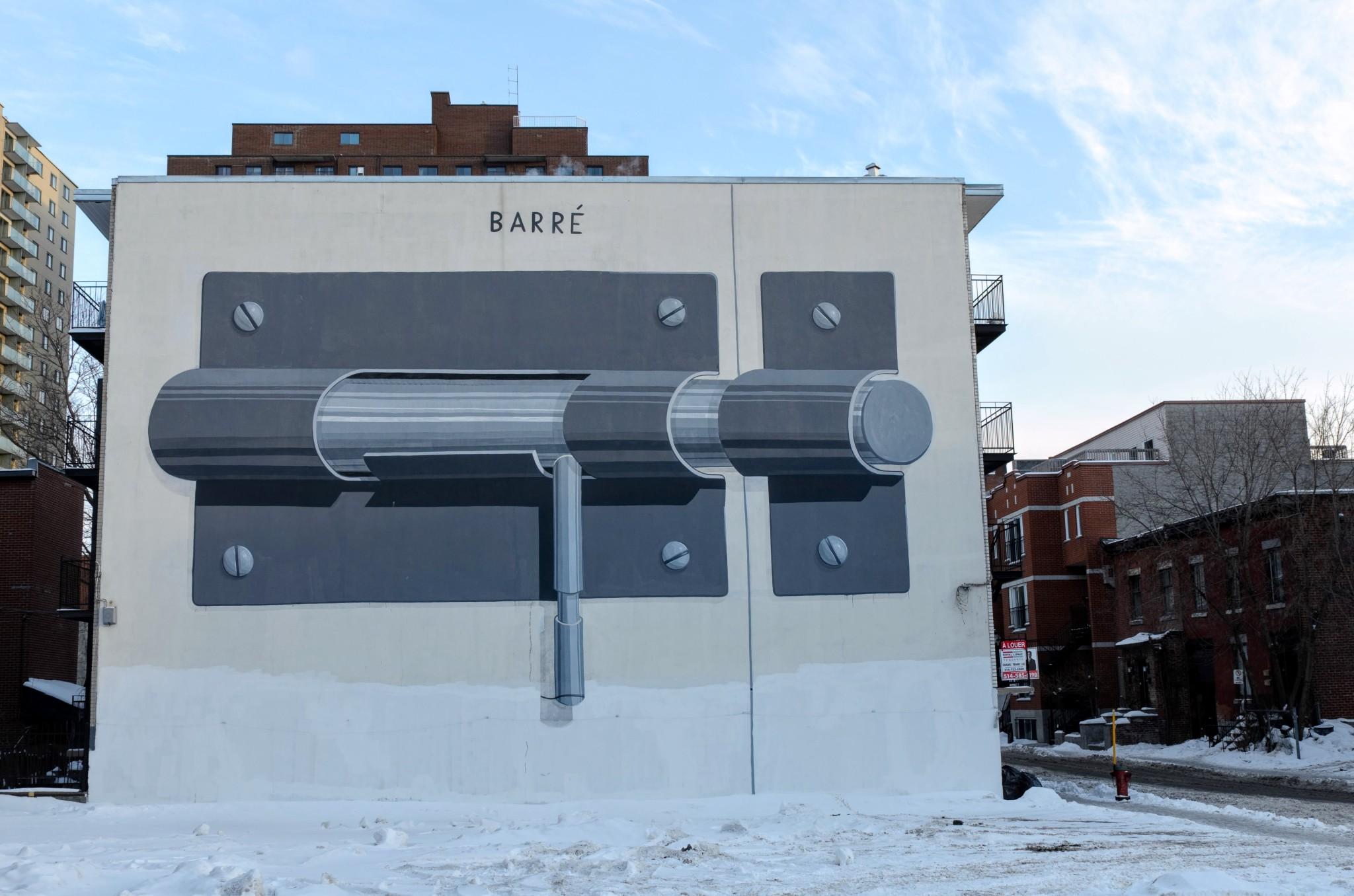 Murale: Barre', Montreal, regione del Quebec, Canada