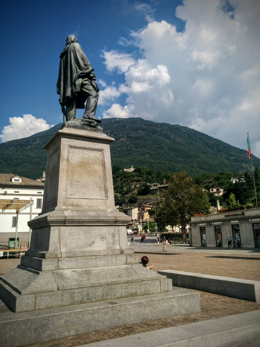 Piazza Giuseppe Garibaldi a Sondrio