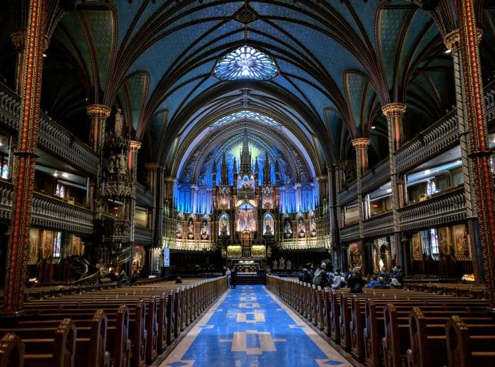 Interno della Basilica di Notre-Dame di Montréal, Canada