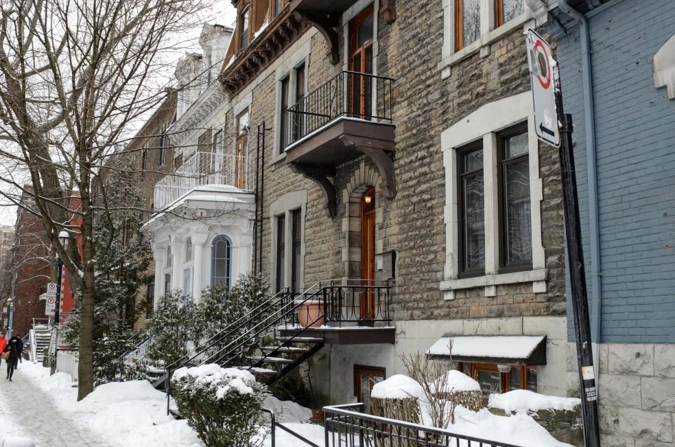 Una tipica strada di Montreal