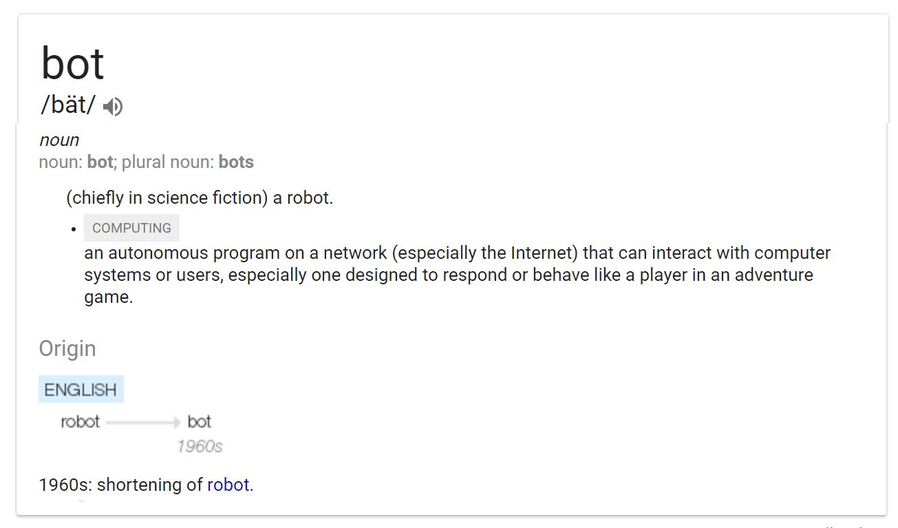 Definizione di Bot