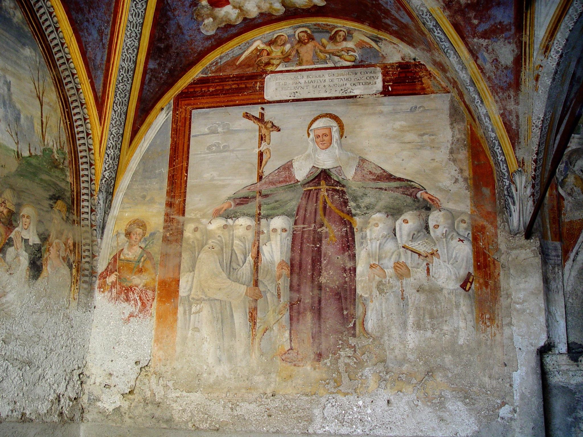 Affresco del 1562, Cappella dei Disciplini, Chiuro