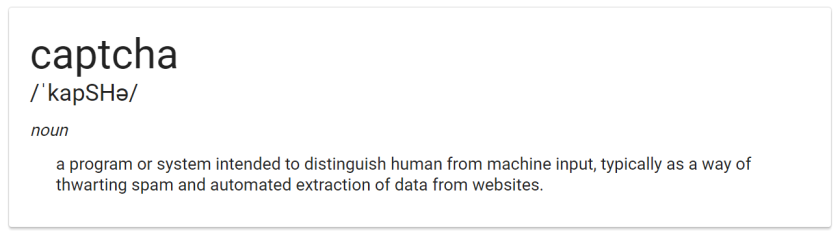 captcha-definition