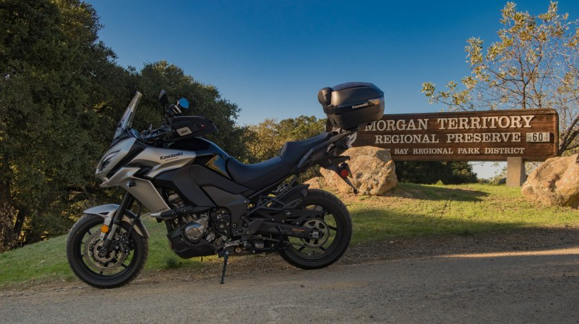 Kawasaki Versys 1000 LT: Morgan Territory Regional Preserve