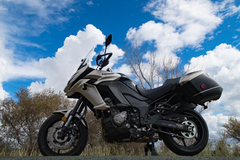 Kawasaki Versys 1000 LT: Delta of the Sacramento river