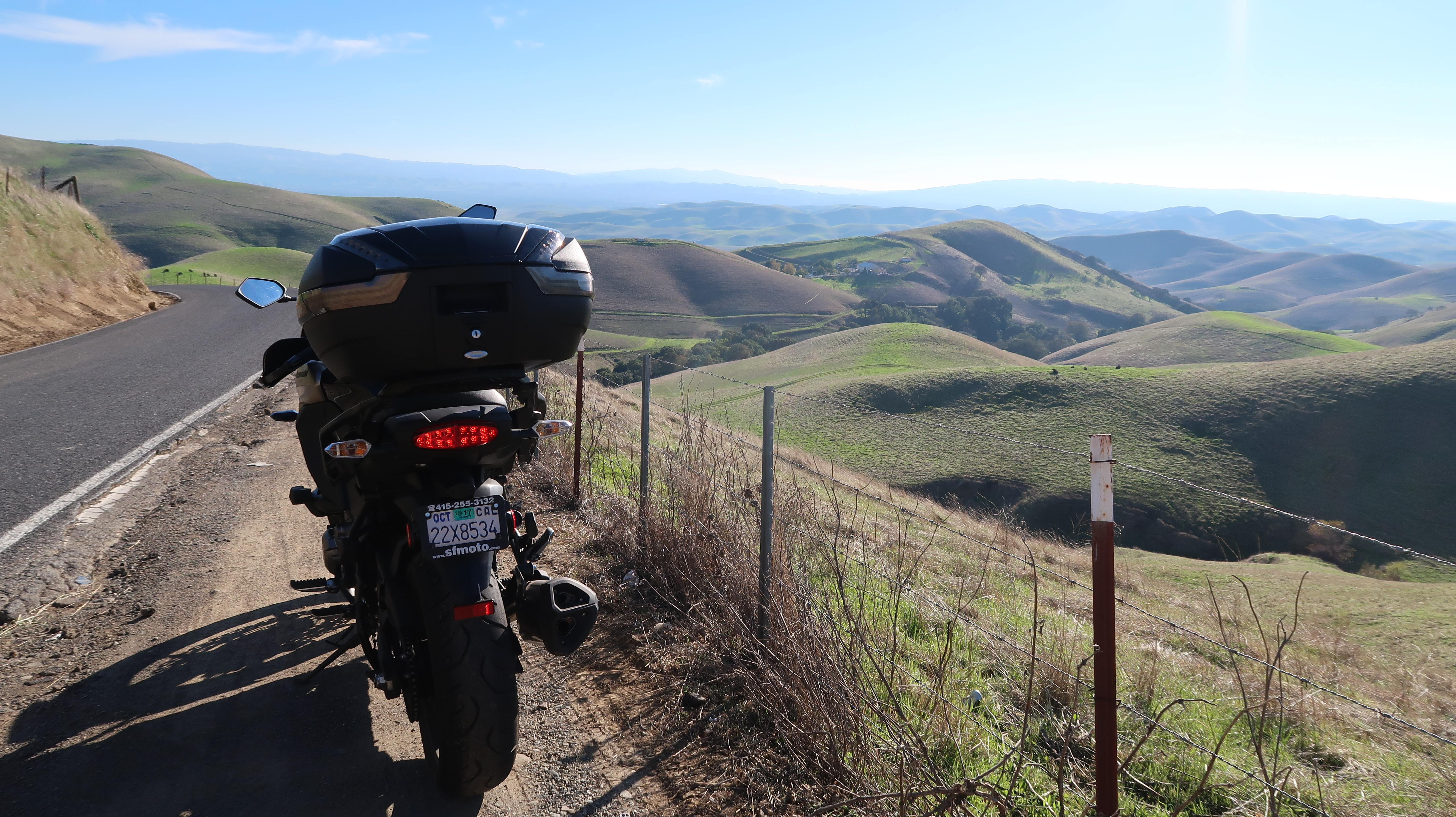 Kawasaki Versys 1000 LT: the hills South of the Morgan Territory