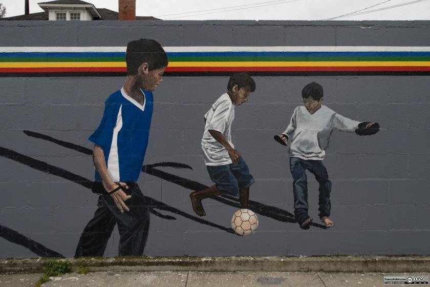 Mural near Washington Elementary School, Oakland, CA
