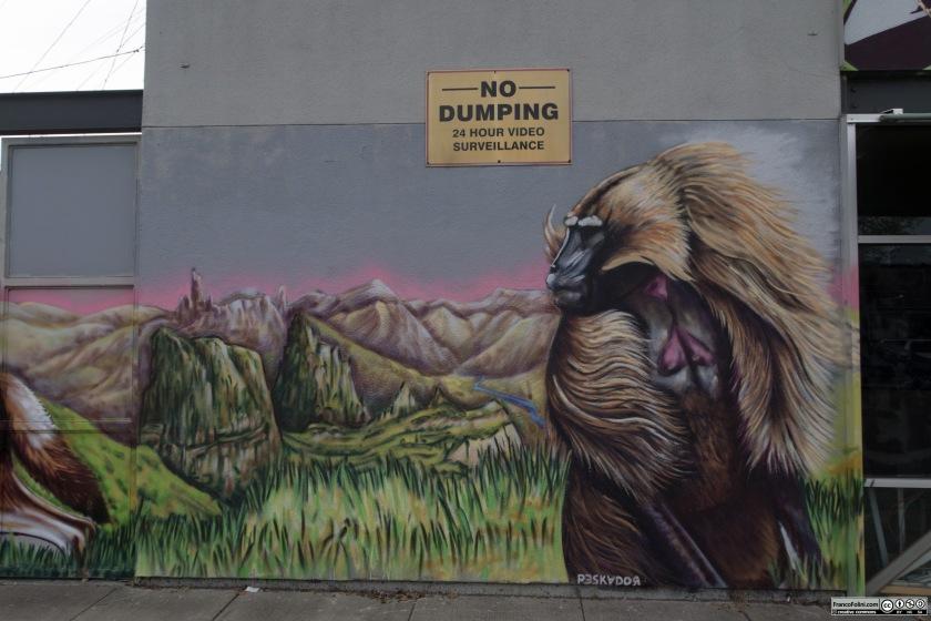 African Savanna, mural by Pancho Pescador, Oakland, CA