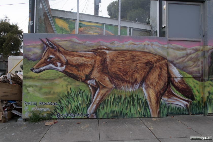 The Coyote, mural by Pancho Pescador, Oakland, CA