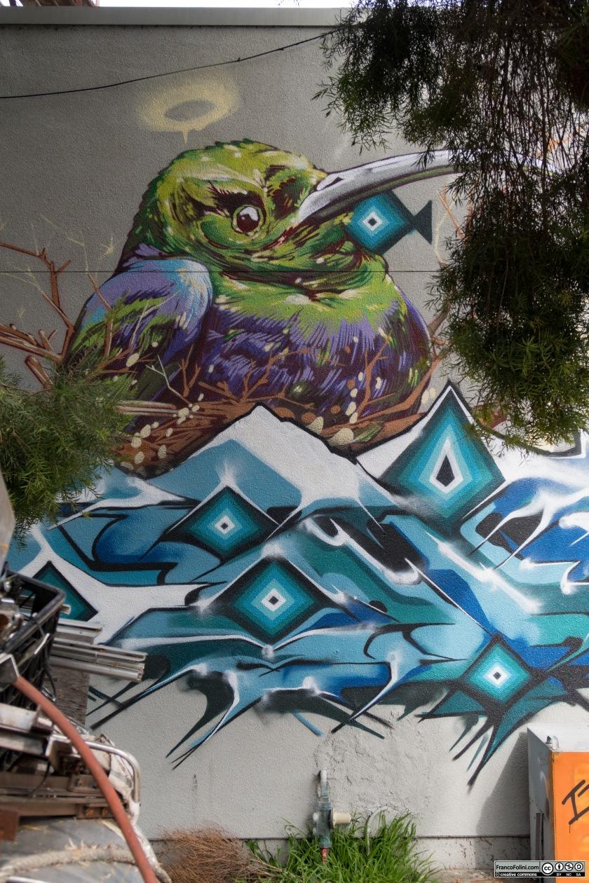 The Bird, mural, Oakland, CA
