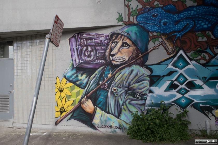 Mural by Pancho Pescador, Oakland, CA