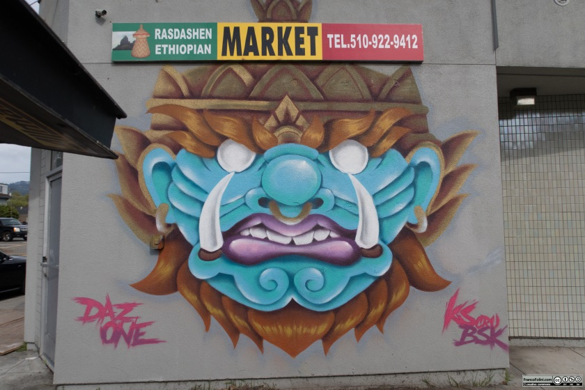 The Dragon, Mural by DazOne Kscrue BSK, Oakland, CA