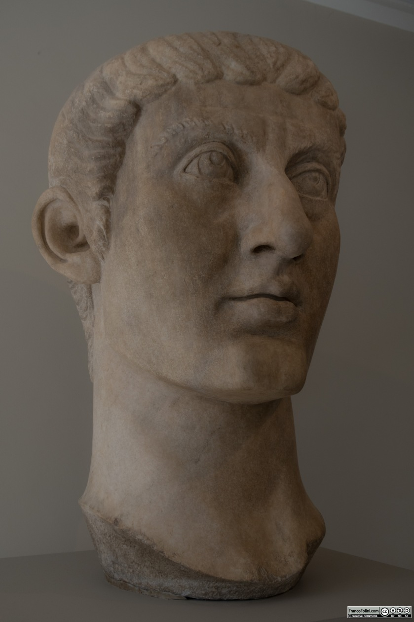 Marble portrait head of the Emperor Constantine I (ca. A.D. 325–370)