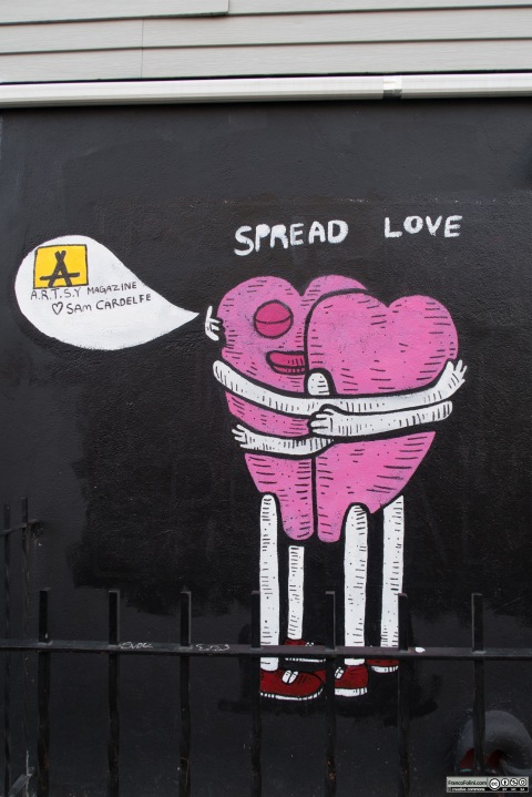 """""""Spread Love"""" by Sam Cardelfe, Williamsburg, Brooklyn New York, USA"""