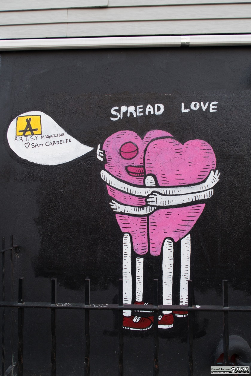 """""""Spread Love"""" by Sam Cardelfe, Williamsburg, Brooklyn New York"""