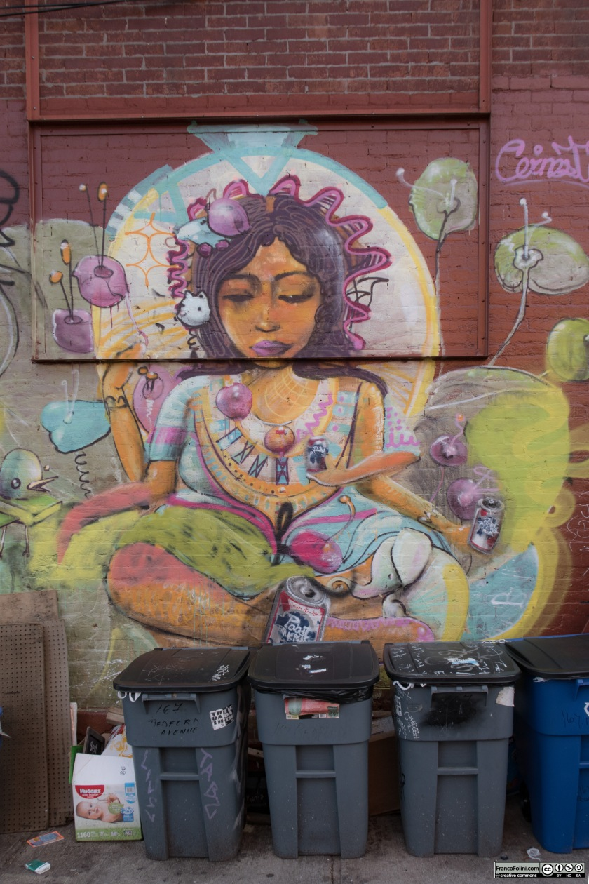 """A goddess"" mural by Cernesto, Brooklyn, New York, US"
