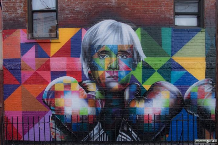 """Fight For Street Art"" mural by Eduardo Kobra, Brooklyn, New York, USA"