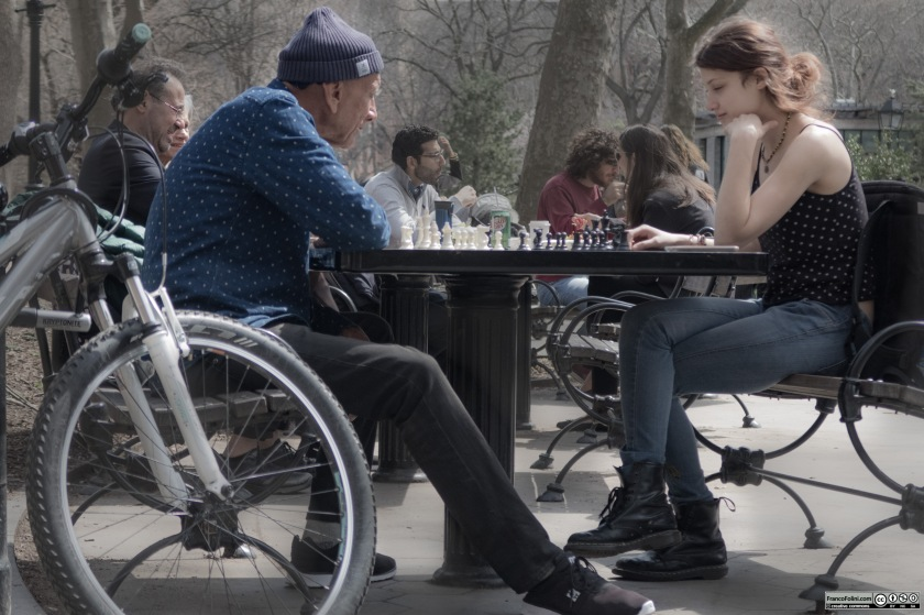 Chess players, Washington Square Park
