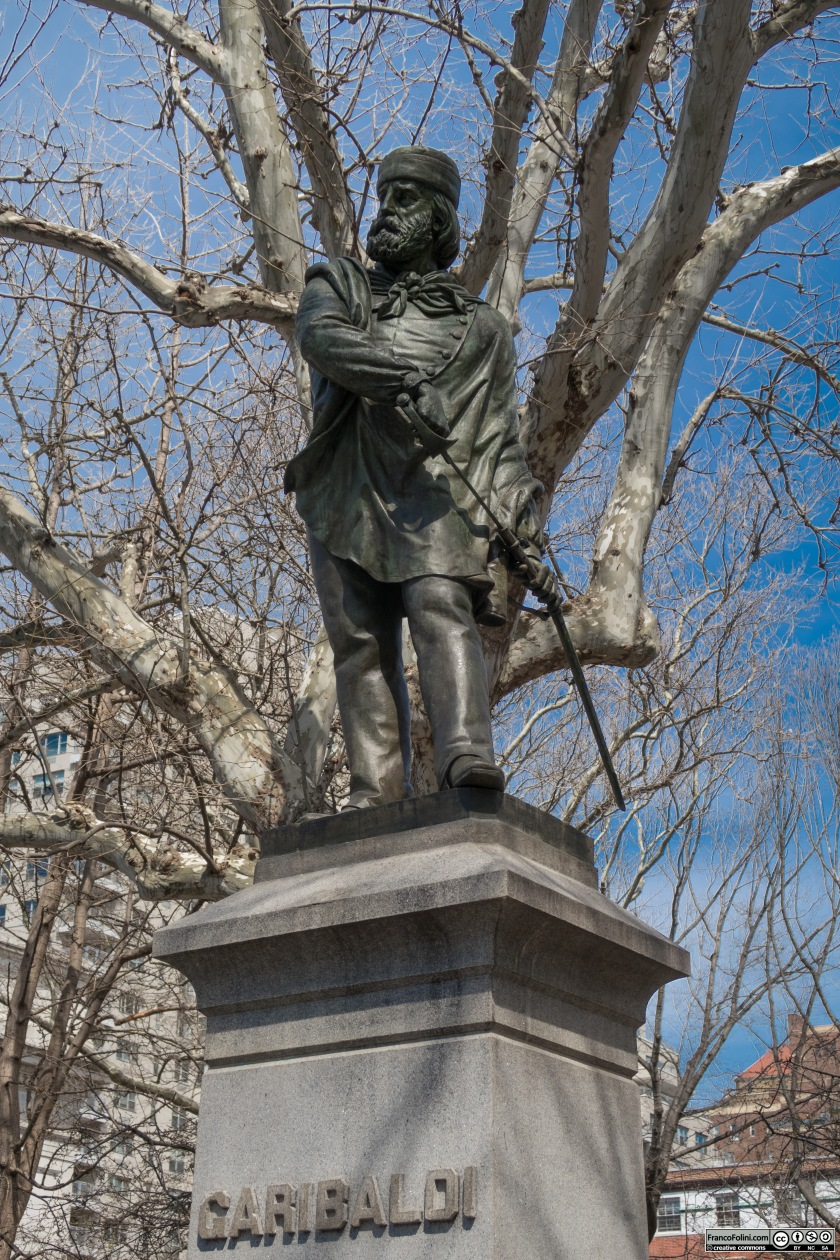 Giuseppe Garibaldi statue at Washington Square Park by Giovanni Turini (1888)