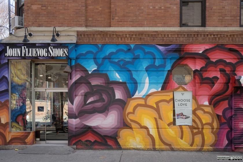 Mural by Jet Martinez, Mulberry Street & Prince Street, Manhattan New York