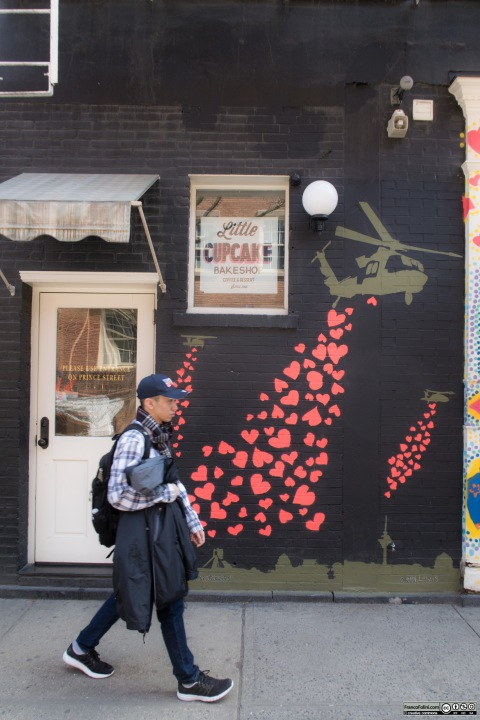 """""""To Tehran with Love"""" mural by Ann Lewis, Little Italy, Manhattan, New York, USA"""