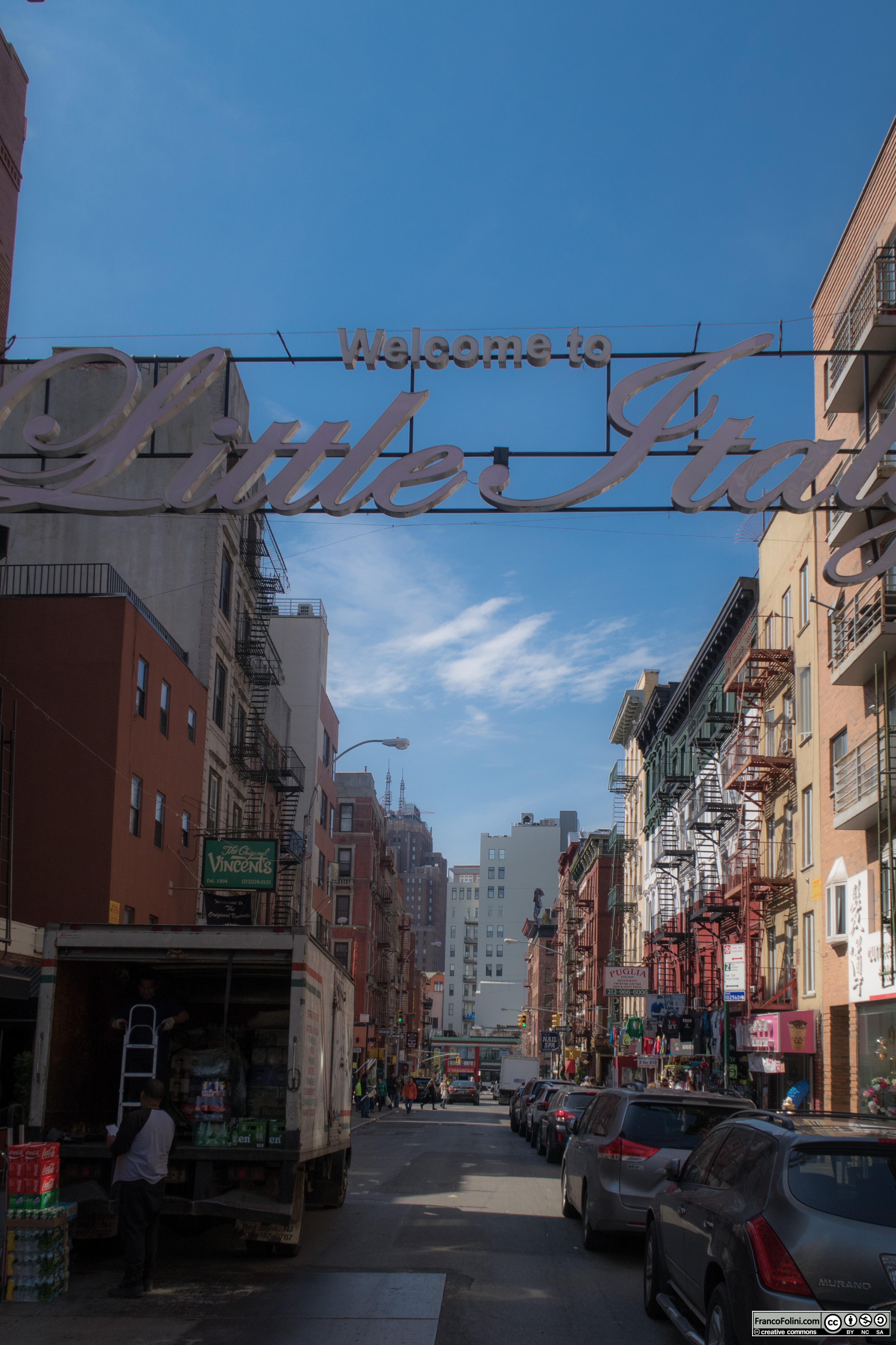 Welcome to Little Italy sign, NYC