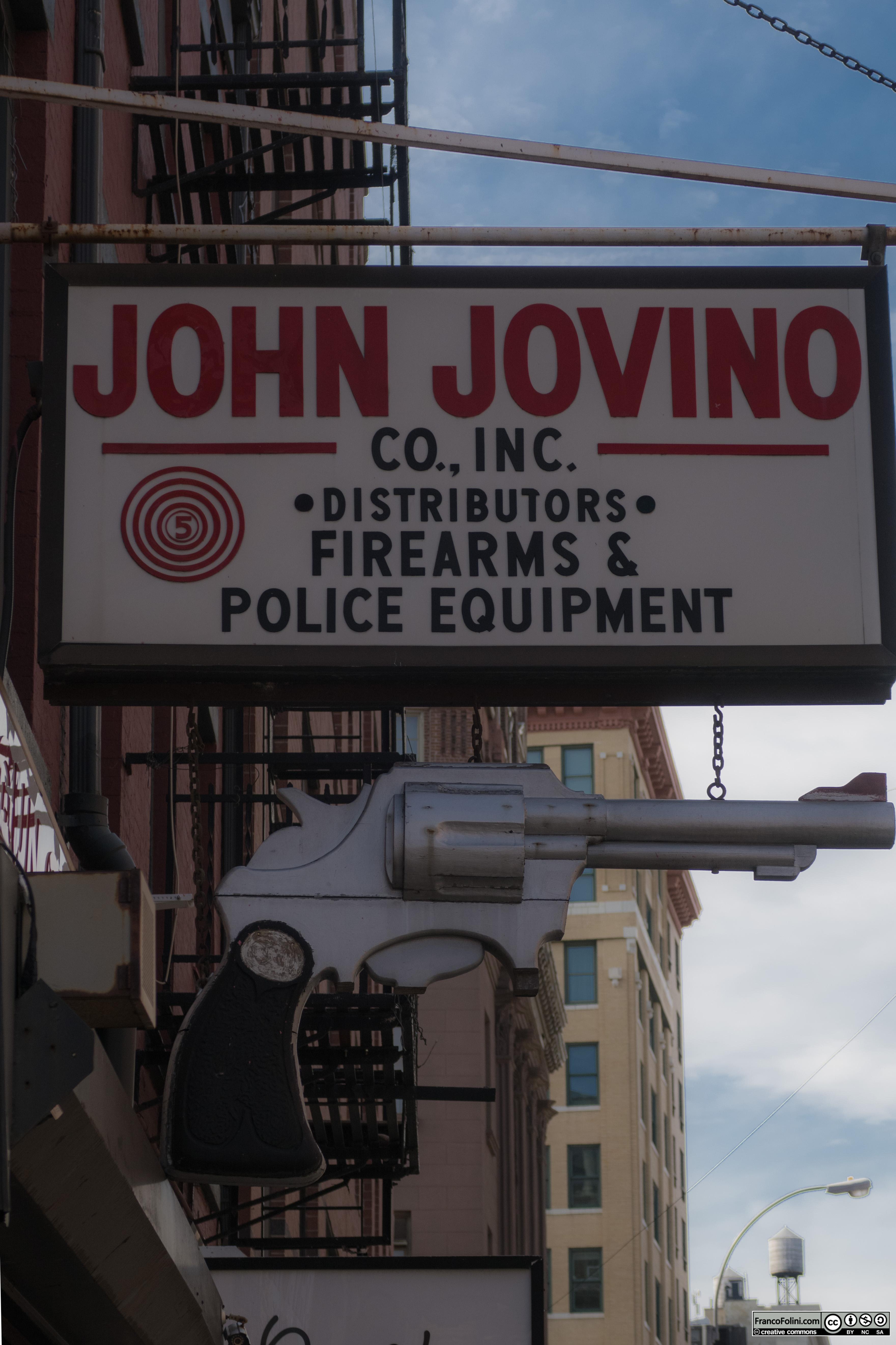 Historic John Jovino Gun Shop, Little Italy, NYC
