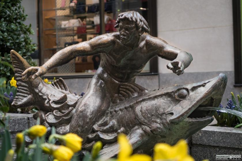 Triton sculpture, Rockefeller Center, NYC