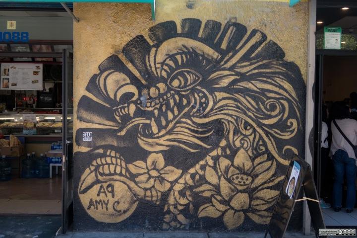 Dragon Mural, Chinatown Neighborhood in OaklandDragon Mural
