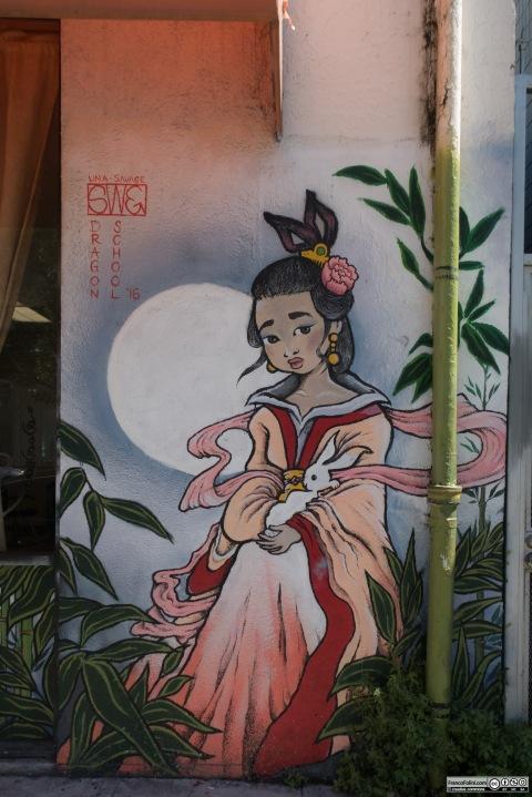 Chinese Girl mural by Lina Savage, Chinatown Neighborhood of Oakland
