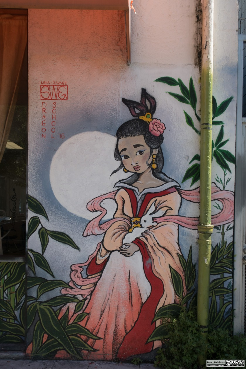 Chinese Girl mural by Lina Savage, Chinatown Neighborhood of Oakland