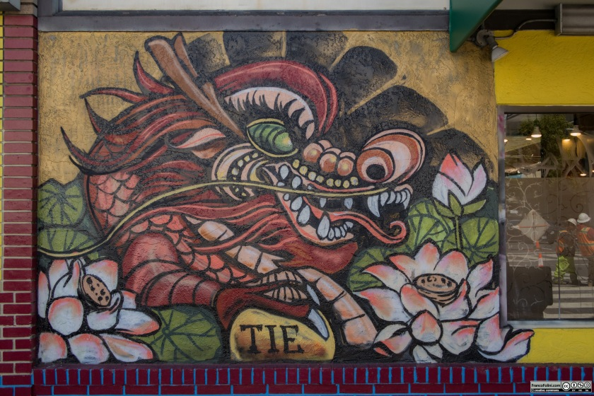 Dragon mural by TIE, Chinatown Neighborhood of Oakland