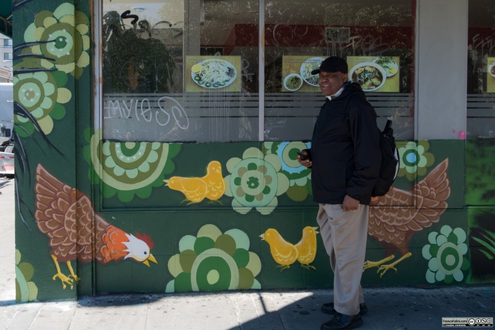 Mural on the walls of a grocery shop, Chinatown Neighborhood of Oakland