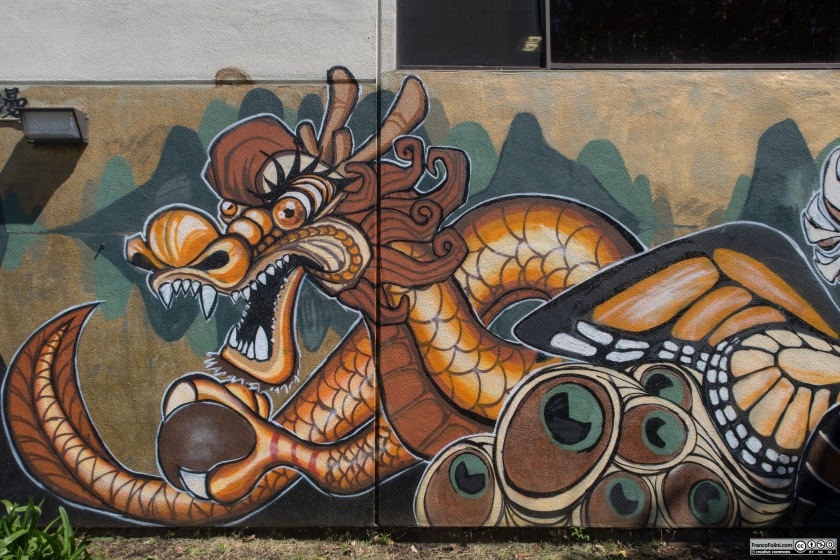 Dragon mural, Chinatown Neighborhood of Oakland