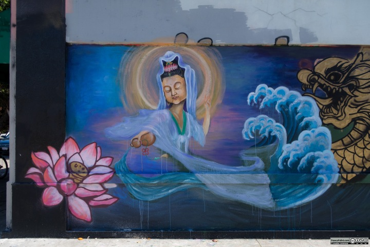 The Girl and the Dragon mural, Chinatown Neighborhood of Oakland